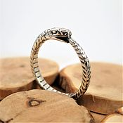 Украшения handmade. Livemaster - original item Ouroboros ring unisex wedding engagement unique handcrafted ring. Handmade.