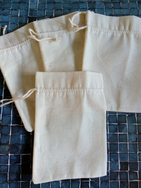 Мешочки из ткани двунитки суровой (размер 12х16), Скатерти и салфетки, Москва,  Фото №1