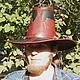 Ролевые игры ручной работы. Шляпа вичхантера кожаная двуцветная. Мастерская 'Чёрная Белка' (squirrel-craft). Ярмарка Мастеров.