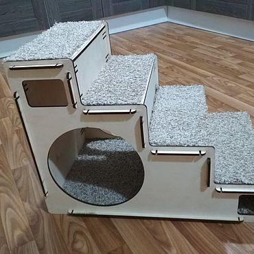 Товары для питомцев ручной работы. Ярмарка Мастеров - ручная работа Лестница-домик для животных. Handmade.