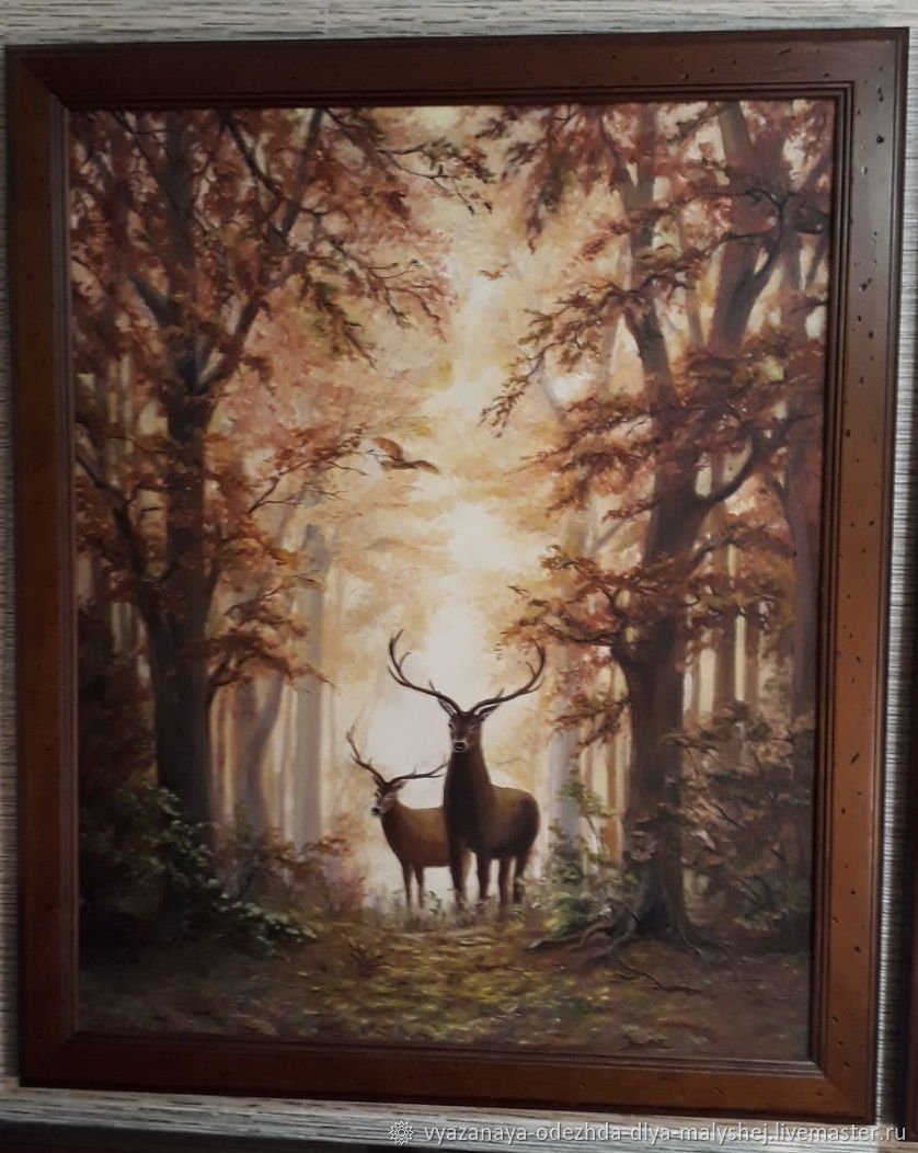Олени в осеннем лесу, Картины, Иваново,  Фото №1