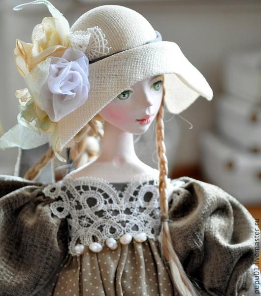 Коллекционные куклы ручной работы. Ярмарка Мастеров - ручная работа. Купить Авторская кукла Элиза. Handmade. Хаки, волосы искусственные