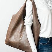Сумки и аксессуары handmade. Livemaster - original item Bag-bag made of genuine leather, mother of pearl. Beige Winter Pearl.. Handmade.