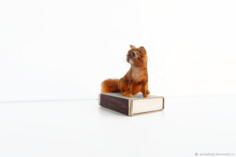 Рыжий кот миниатюра   для кукольного домика, Мини фигурки и статуэтки, Ростов-на-Дону,  Фото №1