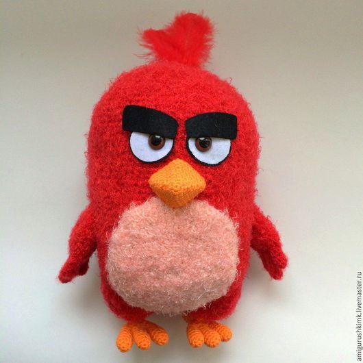 Сказочные персонажи ручной работы. Ярмарка Мастеров - ручная работа. Купить Ред Angry birds (связана крючком). Handmade.