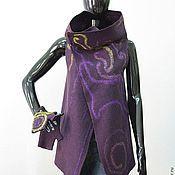 Одежда handmade. Livemaster - original item Felted vest Violet. Handmade.