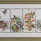 """Картины и панно ручной работы. Ярмарка Мастеров - ручная работа """"Времена года"""". Handmade."""