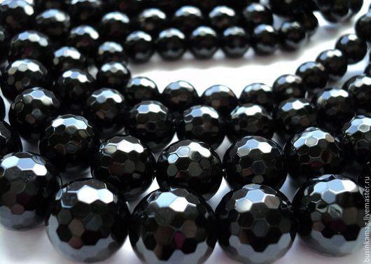 Для украшений ручной работы. Ярмарка Мастеров - ручная работа. Купить Агат черный граненые бусины 10мм, 12мм, 14мм, 16мм. Handmade.