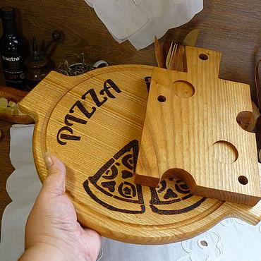 Посуда. Ярмарка Мастеров - ручная работа Набор для разделки, подачи и сервировки Pizzeria. Handmade.