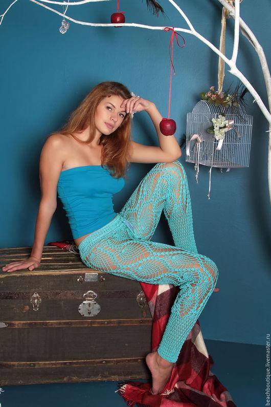 """Брюки, шорты ручной работы. Ярмарка Мастеров - ручная работа. Купить Ажурные брюки """"Анталья"""". Handmade. Вязаные брюки"""