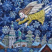 """Картины и панно ручной работы. Ярмарка Мастеров - ручная работа Еще одно панно """" Чудеса случаются,особенно в Рождество"""". Handmade."""