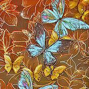 Картины и панно ручной работы. Ярмарка Мастеров - ручная работа Влюбленные Бабочки. Handmade.