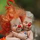 Коллекционные куклы ручной работы. Ярмарка Мастеров - ручная работа. Купить Amore. Handmade. Рыжий, кружево