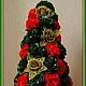 """Новый год 2017 ручной работы. Ярмарка Мастеров - ручная работа. Купить Новогодняя ёлка """"Королева цветов"""". Handmade. Новогодняя елка"""