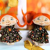 Куклы и игрушки handmade. Livemaster - original item Autumn doll-brooch. Handmade.