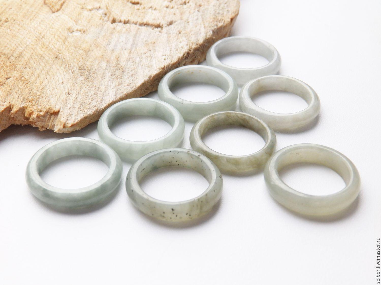 Кольцо из светло-зеленого нефрита 17.25 Мятно-зеленый, Кольца, Гатчина,  Фото №1