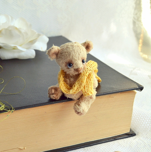 Мишки Тедди ручной работы. Ярмарка Мастеров - ручная работа. Купить Лёвушка (5 см). Handmade. Бежевый, минимишка