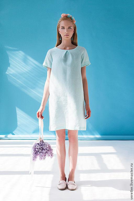 Платья ручной работы. Ярмарка Мастеров - ручная работа. Купить Платье MINT. Handmade. Мятный, мода, море, стиль, пастель