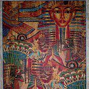"""Для дома и интерьера ручной работы. Ярмарка Мастеров - ручная работа """"Древний Египет коллаж"""" Разделочная доска панно поднос. Handmade."""