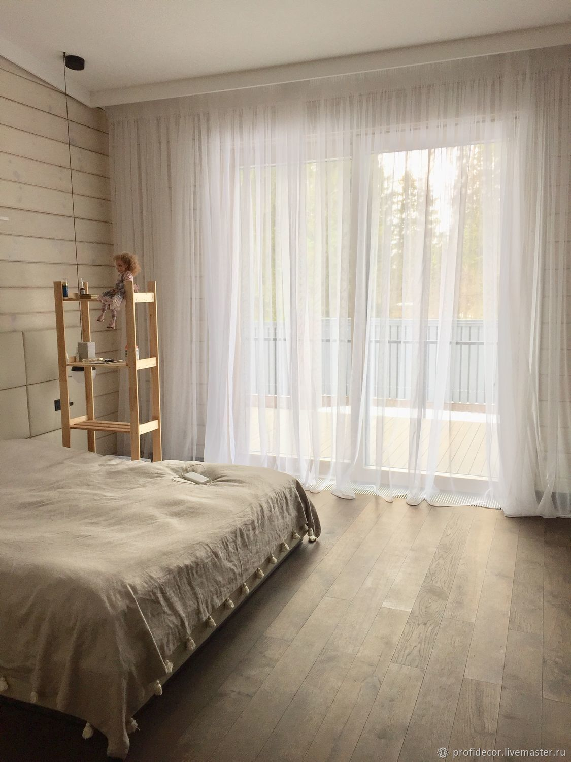 White curtains in the country house ' White 1', Curtains1, Moscow,  Фото №1