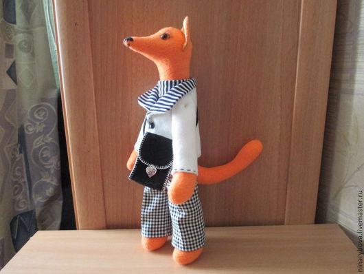 """Игрушки животные, ручной работы. Ярмарка Мастеров - ручная работа. Купить Кукла тильда """" Хитрый Лис"""". Handmade. Рыжий"""