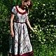 Платья ручной работы. Ярмарка Мастеров - ручная работа. Купить Платье с рисунком. Handmade. Пейсли, платье из льна, платье в пол