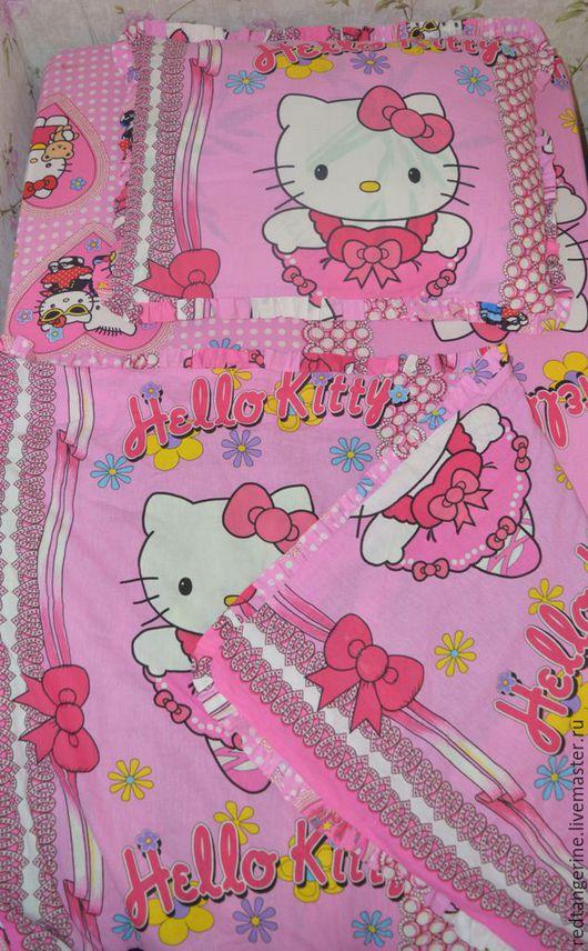 Детская ручной работы. Ярмарка Мастеров - ручная работа. Купить Постельное белье для детей. Handmade. Розовый