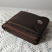 Кошельки ручной работы. Ярмарка Мастеров - ручная работа Портмоне 004 с наружным карманом для мелочи или визиток. Handmade.