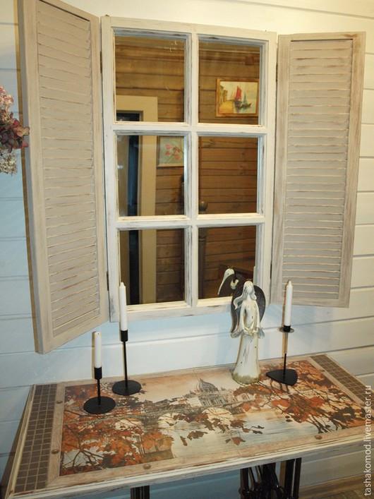 """Мебель ручной работы. Ярмарка Мастеров - ручная работа. Купить Консоль и зеркало со ставнями """"Римские каникулы..."""" (комплект). Handmade."""