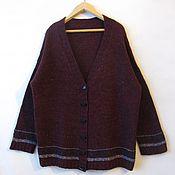 Одежда ручной работы. Ярмарка Мастеров - ручная работа кардиган вязаный большого размера.(56-60). Handmade.