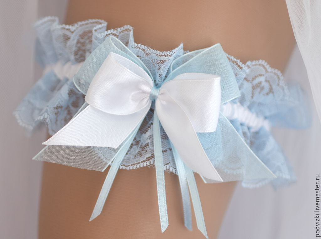 "Clothing & Accessories handmade. Livemaster - handmade. Buy Подвязка невесты ""Голубая"".Garter, the brides garter price, garter"