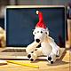 Новый год 2017 ручной работы. Заказать Медведь белый в колпаке. Студия трикотажа March 1st. Ярмарка Мастеров. Новогодний подарок