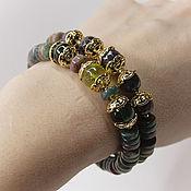 Украшения handmade. Livemaster - original item Bracelets Oliva Natural stones gold Plated. Handmade.