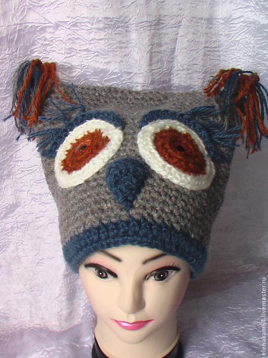 Шапки ручной работы. Ярмарка Мастеров - ручная работа. Купить шапка вязаная сова. Handmade. Шапка, шапка креативная, шапочка