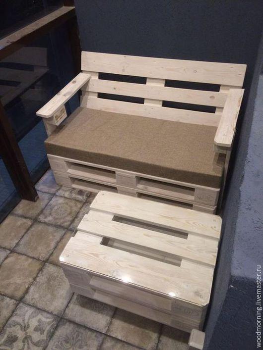 Мебель ручной работы. Ярмарка Мастеров - ручная работа. Купить Журнальный стол из паллет. Handmade. Мебель, мебель из дерева