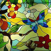 Для дома и интерьера ручной работы. Ярмарка Мастеров - ручная работа Витраж тиффани. Handmade.