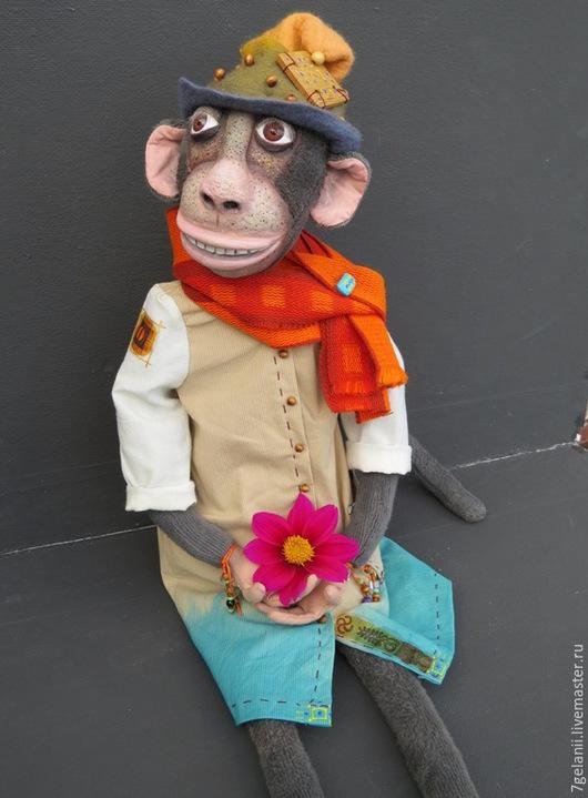 Куклы и игрушки ручной работы. Ярмарка Мастеров - ручная работа. Купить игрушка обезьянка ГУГУ. Handmade. Разноцветный, интерьерная кукла