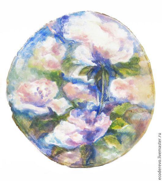 Картины цветов ручной работы. Ярмарка Мастеров - ручная работа. Купить Пионы. Handmade. Розовый, картина, лак