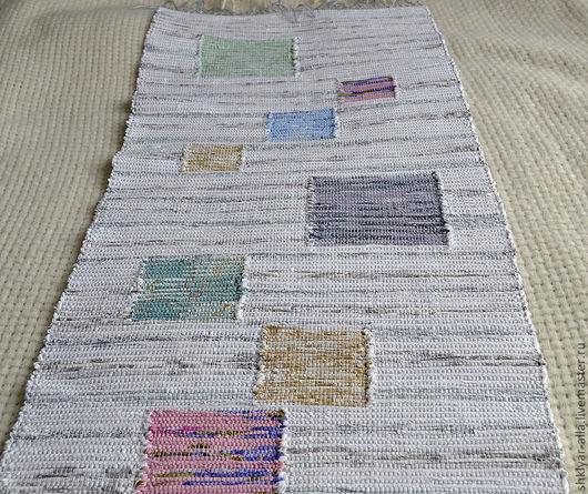 Текстиль, ковры ручной работы. Ярмарка Мастеров - ручная работа. Купить Половик ручного ткачества(№8). Handmade. Белый, ковер