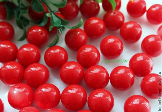 Для украшений ручной работы. Ярмарка Мастеров - ручная работа. Купить Бусины  20 мм красный. Handmade. Ярко-красный