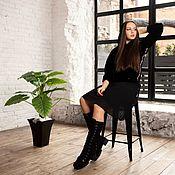 Обувь ручной работы handmade. Livemaster - original item boots: Boots felted Negro. Handmade.