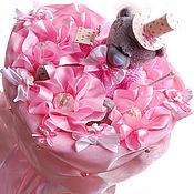 Цветы и флористика ручной работы. Ярмарка Мастеров - ручная работа Букет из конфет и мишки Teddy Просто, люблю... от Alexander Awe. Handmade.