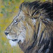 handmade. Livemaster - original item Painting lion-King of beasts, oil on canvas, 40 x 50. Handmade.