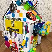 Бизиборды ручной работы. Ярмарка Мастеров - ручная работа Бизиборд дом. Все для развития вашего малыша в одном бизидоме.. Handmade.