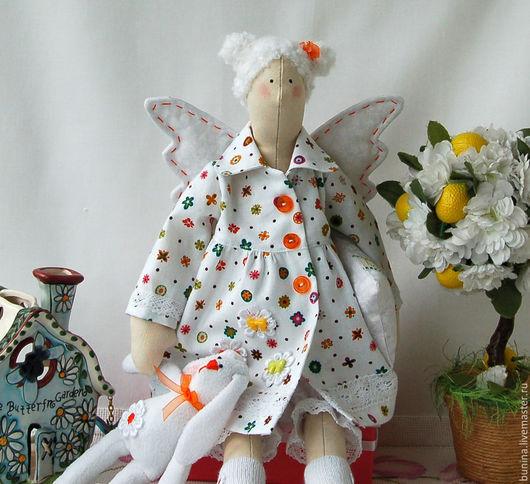 Куклы Тильды ручной работы. Ярмарка Мастеров - ручная работа. Купить Сонный ангел и его любимая игрушка. Handmade.