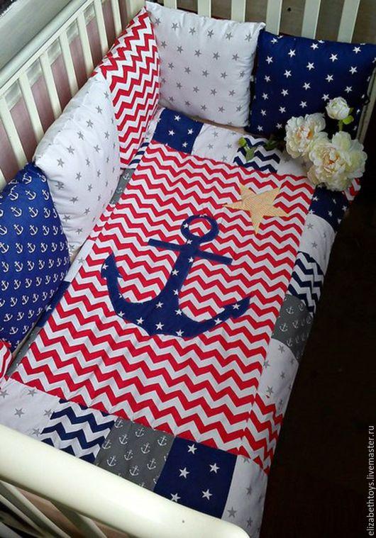 темно-синий, морской стиль, лоскутное одеяло, детское лоскутное одеялко, одеяло пэчворк, одеяло для новорожденного, одеяло лоскутное, одеяло для мальчика, морское одеялко