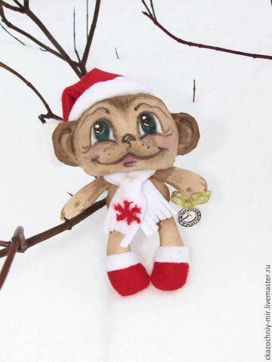 Авторская работа с праздничным запахом, выполнена из 100% хлопка. Маленькая обезьянка ищет свой дом....лучший подарок на праздник!