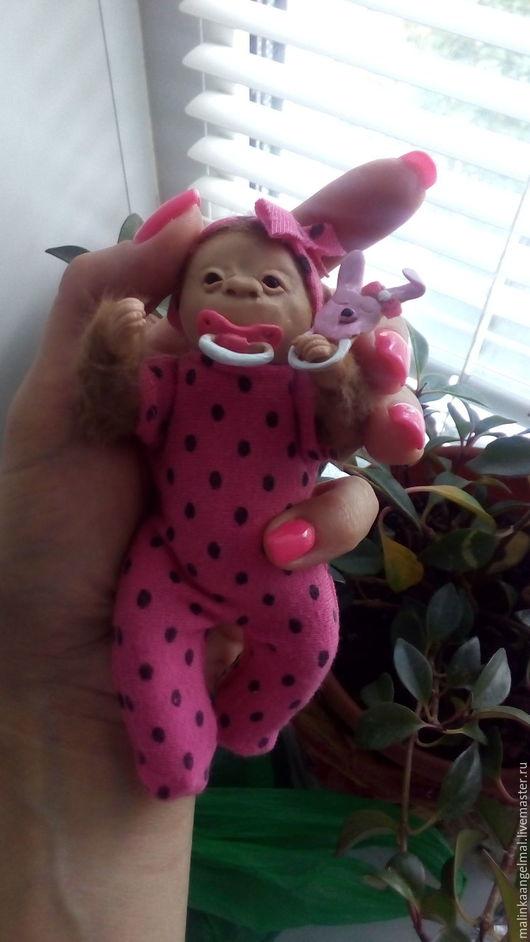 Куклы-младенцы и reborn ручной работы. Ярмарка Мастеров - ручная работа. Купить Мини-микро реборн обезьянка Шанти 13 см. Handmade.