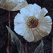 """Картины и панно ручной работы. Ярмарка Мастеров - ручная работа Вышивка крестом """" Белые цветы. Открытый свету"""". Handmade."""