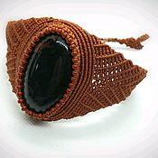 Украшения handmade. Livemaster - original item Red obsidian macrame bracelet. Handmade.